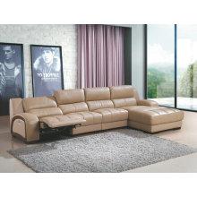 Canapé inclinable de haute qualité, L forme fonction canapé en cuir (G963)