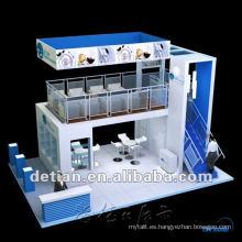 Cabina de dos pisos con dos niveles para exposición