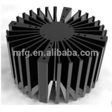 OEM алюминиевый литой светодиодный радиатор с черной поверхностью анодирования