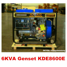 5.5kw/6kVA Air Cooled Open Frame Diesel Generator 100% COOPER Hot Sale!