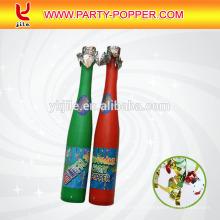Sektflasche Party Popper Konfetti Feuerwerk