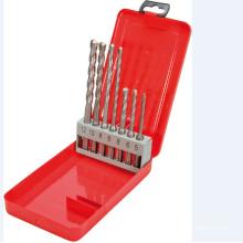 7pcs Hammer Drill Bits in Metal Case
