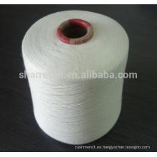 90% modal / 10% hilado de cachemira blanco crudo