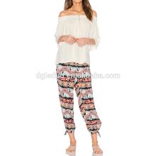 Jambes pantalons de yoga de jambe large de jambes d'ouvertures de jambes harem jogger yoga thaïlandais