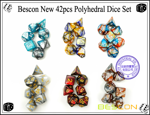 Bescon New 42pcs Polyhedral Dice Set-3