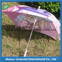 Cuadrado de color colorido de impresión Folower Kids Umbrella