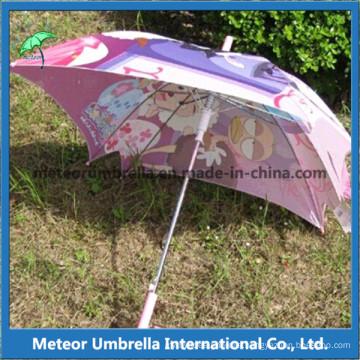 Square Shape Colorful Folower Printing Kids Umbrella