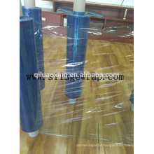 blue color plastic wrapping film