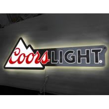 Letrero luminoso de metal Coorslight