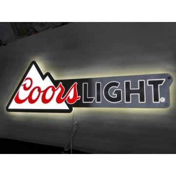 Coorslight metal light sign