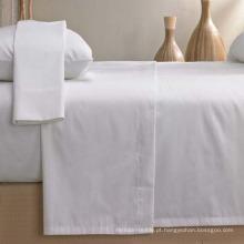 100% algodão bege cor folha cabido folha de cama (DPF1055)