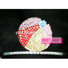 crystal hair jewelry accessories colorful crystal ball tiara