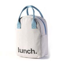 Cotton Thermal Food Picnic Kids Cooler Bags Custom Logo 100% Eco Friendly Canvas Lunch Bag organic cooler bag