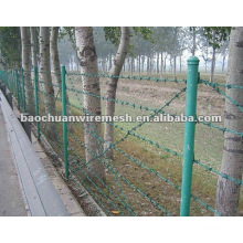 High quality security galvanized barbed wire fencing with reasonable price in store(supplier)
