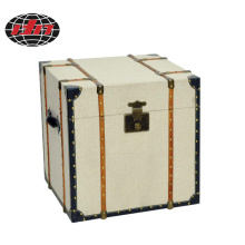 China Factory for MDF Wooden Box  Covered Square Storage Box with Linen Covered export to Chile Wholesale