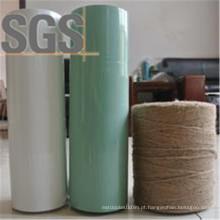 Pacote de grama embalado branco / preto / verde grama silagem filme