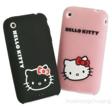 Pink Hello Kitty Silicone Cellphone Case Customized For Sangsung