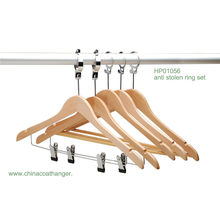Hotel Clips cintre naturel en bois Anti Steel Bar Hanger