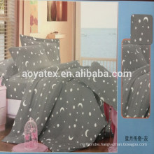 star and moon style adult queen size 75gsm 100% polyester microfiber bedsheet sets