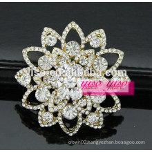 beautiful facet crystal spiral flower brooch