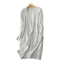 женщины 2017 новый стиль чистого кашемира вязать свитер изящные пальто твид пряжи V шеи