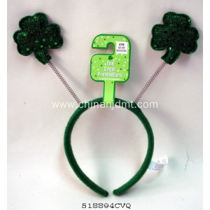 Green lucky grass headband