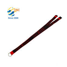 Custom Whistle For Id Card Holder/ Fancy Badge Holder Jacquard Lanyard