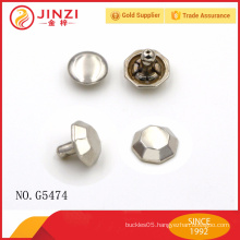 China factory supply handbags hardware nickel rivets for bags decoration