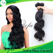 Extension de cheveux vierge brésilienne Remy de cheveux humains 100% non transformés