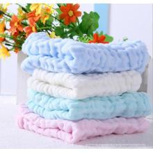 Mouchoir en coton à six couches serviettes de toilette née pour bébé serviette d'allaitement