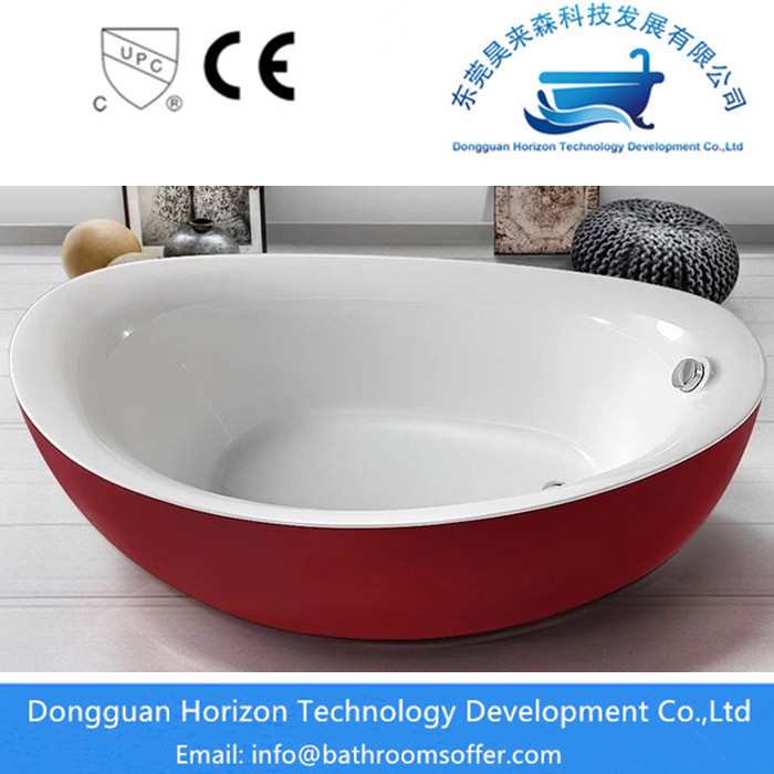 Red Freestanding Tub