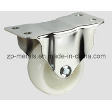 Light-Duty White PP Fixed Caster Wheel