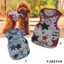 Star Printing Dog T-Shirts, Hot Pet Clothes (YJ82319)