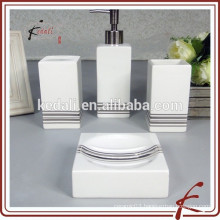 Pink Mini Square Porcelain Ceramic Bathroom Accessory Set