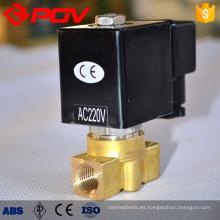 válvula solenoide de alta presión de latón forjado de bajo precio