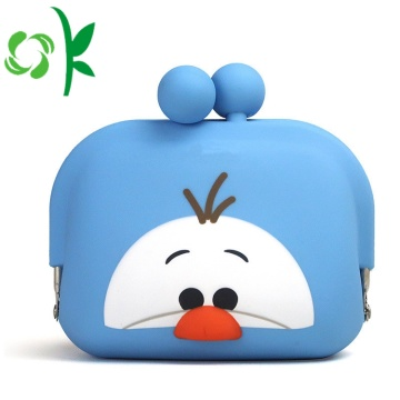 Silikon djurtecknad Mini Wallet Silicone Coin Purse