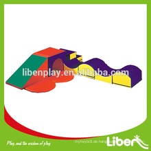 Indoor Kleinkind Schaum Klettern Spielzeug Spielplatz Ausrüstung, Schwamm Spielzeug Kinder Soft Play für Party mieten Zug Tunnel LE.RT.016