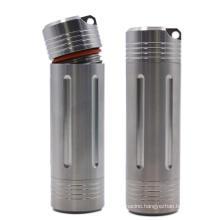 Large capacity waterproof titanium pill capsule holder