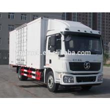 6 * 2 drive Shacman marca van camión / Shannqi van box truck / Shannqi cargo caja / van box camión de transporte para la carga de mercancías
