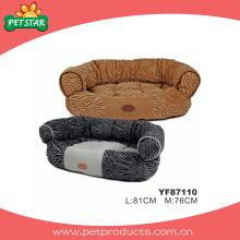 Samt-Vlies-Hundebetten, warme Haustier-Betten (YF87110)