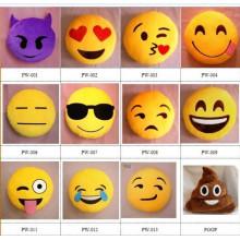 Almohadas lindas baratas al por mayor del emoji de la felpa de la felpa