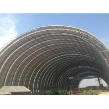 Marco de espacio de domo geodésico de gran tamaño para cobertizo de almacenamiento