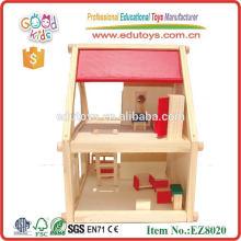 2015 Casa de boneca de madeira quente, casa de boneca de madeira de alta qualidade para crianças