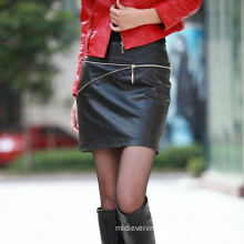 Black Leather Mini Womens Summer Skirts High-waist And Slim Fit