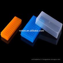 Support de tubes à centrifuger en plastique PP