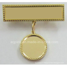 Metal Pin Badge with Plain Hanger (badge-243)