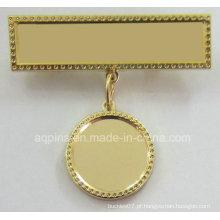 Emblema do pino de metal com o gancho liso (emblema-243)