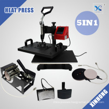 Multi Functional T shirt Mug Plate Cap Combo Heat Press Transfer Machine