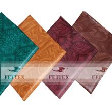 Tissu fait à la main africain 100% coton jacquard brocade teint 5 yards / sac textiles en tissu
