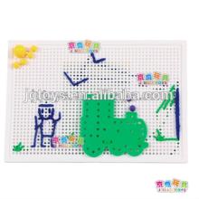 Hotsale criativo crianças pré-escolares educacionais Threading Puzzle building block